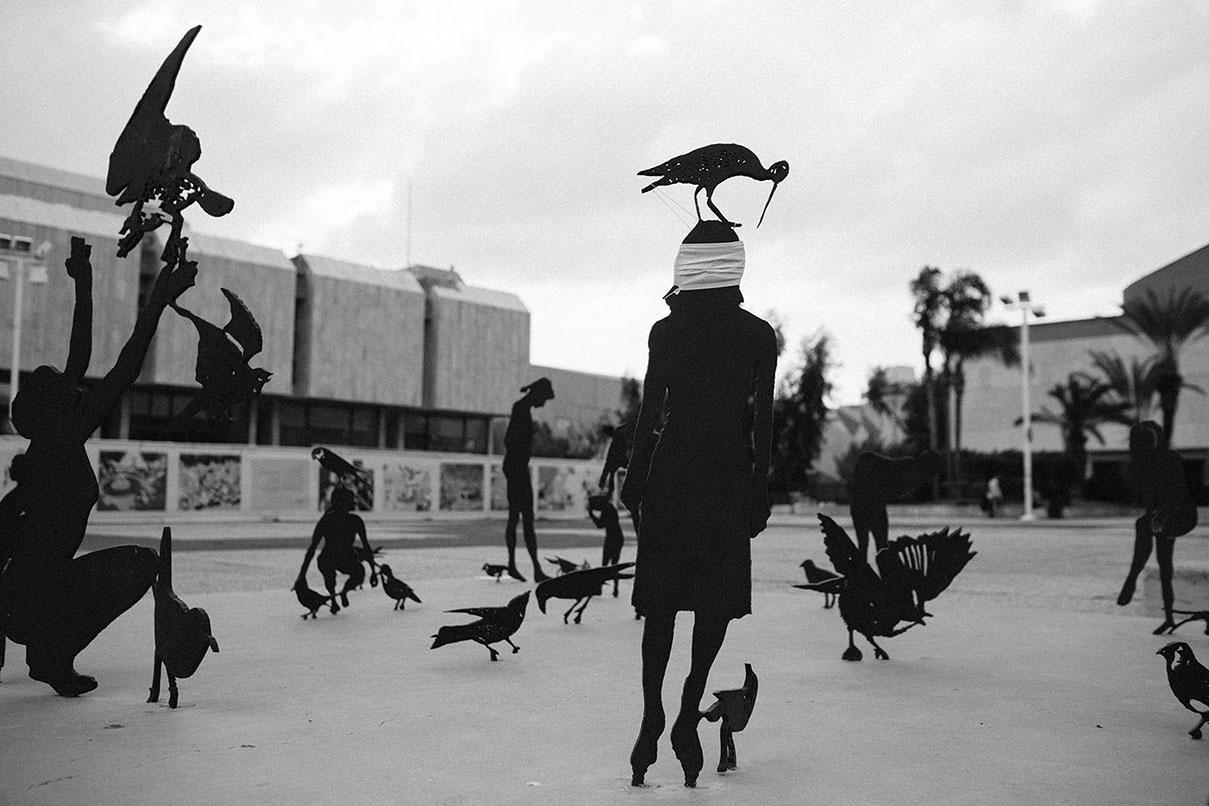 דויד סקורי צילום רחבת מוזיאון תל אביב
