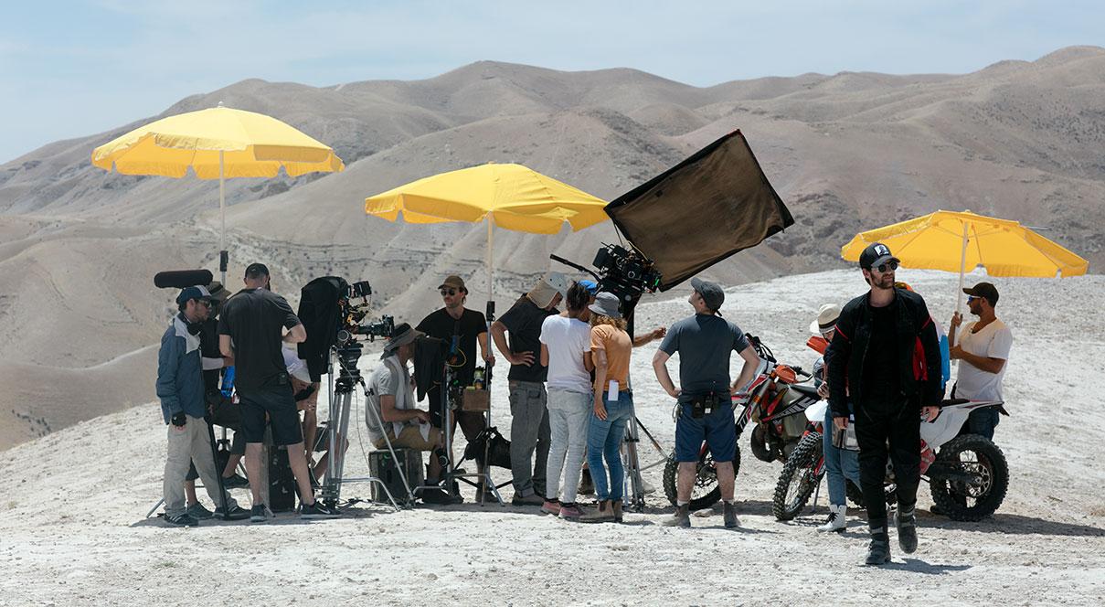 דויד סקורי - צילום סרט קולנוע בנביא מוסא